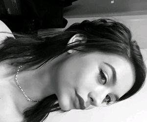 black and white, hair, and haircut image