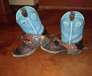 boots, country, and spurs image