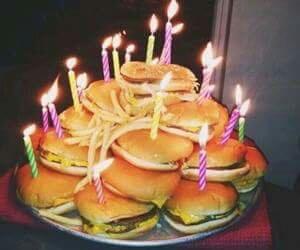 food, birthday, and burger image
