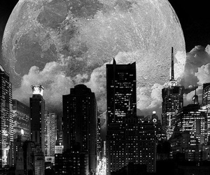city and moon image