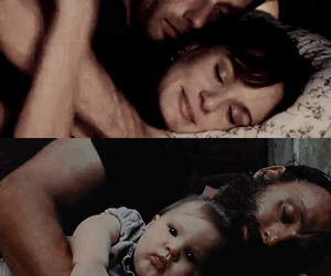 the walking dead, lori, and judith image