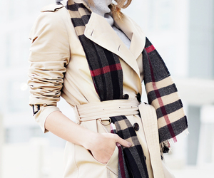 Burberry, coat, and girl image
