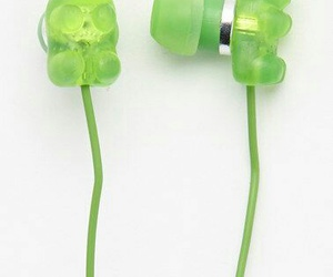 earphones, scented, and gummy bear image