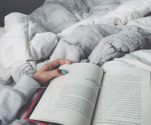 book, white, and bed image