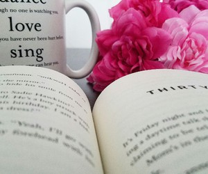 bed, coffee, and books image