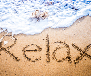 beach, relax, and sand image