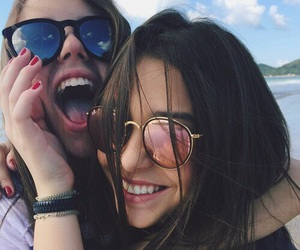 best friends, vacation, and summer image