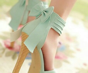 blossom, heels, and blue image