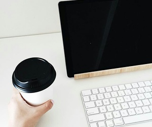 coffee, technology, and tumblr image