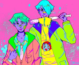 anime, boys, and colors image