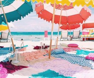 beach, summer, and colorful image