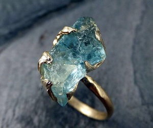 ring, jewelry, and blue image