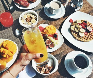 fruit, breakfast, and drink image