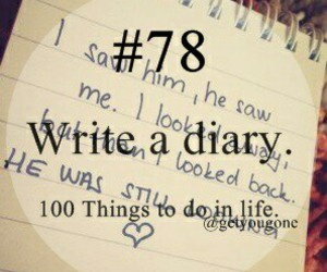 diary, write, and a personal image
