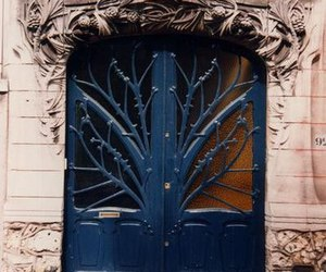 door, white, and dark-blue image