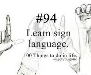 language and sign image