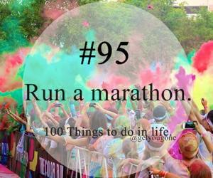 run and a marathon image