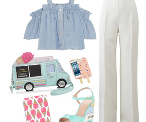 fashion, ice cream, and outfit image