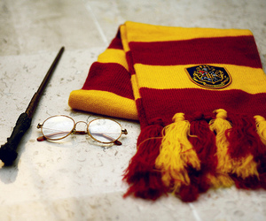 harry potter, gryffindor, and glasses image