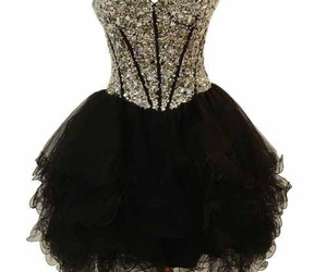black, prom dress, and clothes image