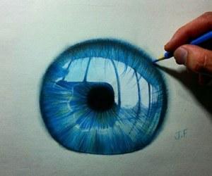 art, blue, and eye image