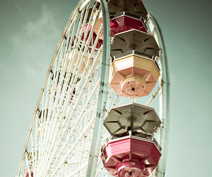 ferris wheel, vintage, and photography image