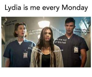 funny, monday, and teen wolf image