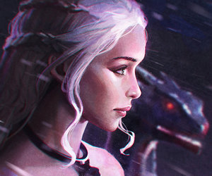 game of thrones, art, and daenerys image