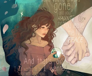 romantic, dramione, and love image