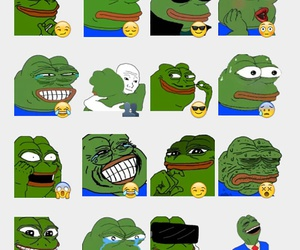 emoticons and pepe frog image