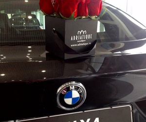 bmw and roses image