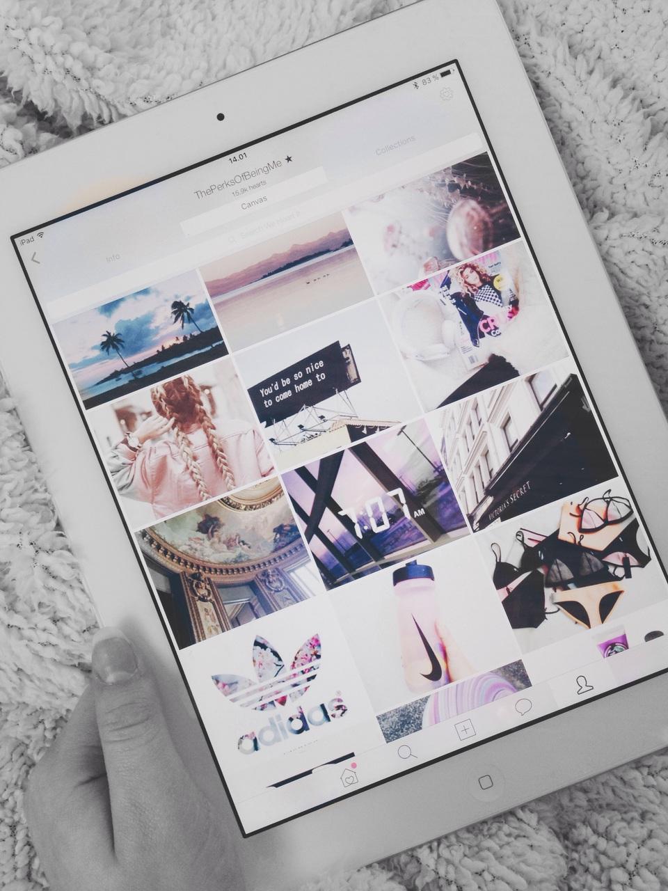 we heart it, ipad, and app image