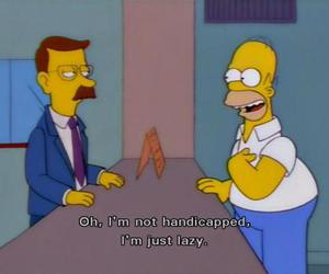 Lazy, simpsons, and homer image