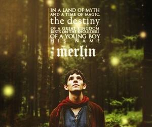 merlin, colin morgan, and magic image