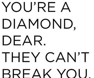 quote and diamond image