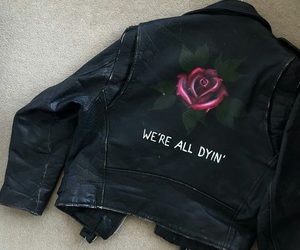 grunge, rose, and jacket image
