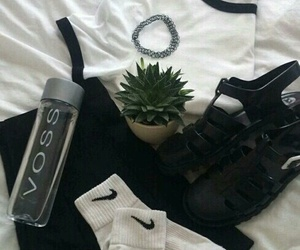 grunge, nike, and black image