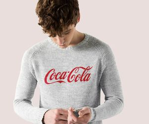 boy and coca-cola image