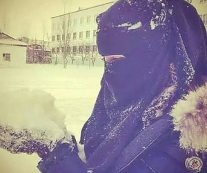 niqab, girl, and hijab image