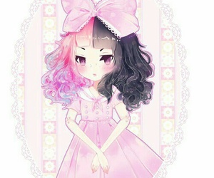 melanie martinez, pink, and anime image
