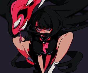 anime, anime girl, and snake image