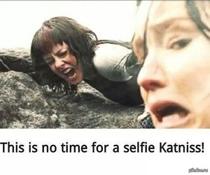 selfie, katniss, and funny image