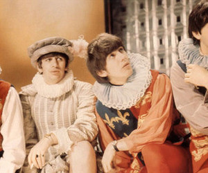 the beatles, george harrison, and ringo starr image