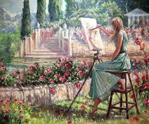 artist, garden, and mood image