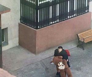 couple, mongolia, and teddy bear image