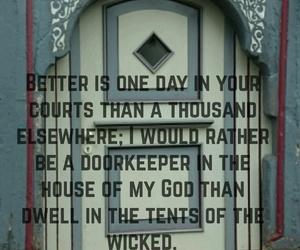bible, door, and quote image