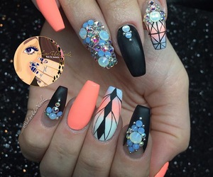 luxury, matte, and nails image