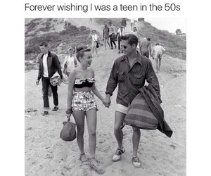 50s, couple, and teen image