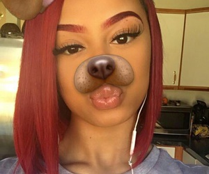 dog, pretty, and red image
