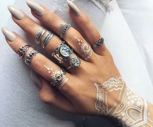 henna, jewels, and nails image
